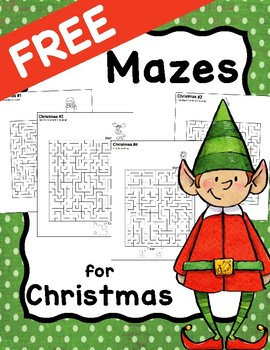 Christmas Mazes.Free Christmas Mazes