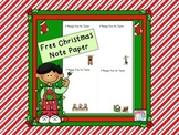 Message from the Teacher Christmas Note Paper (FREE)