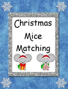 FREE Christmas Mice Matching