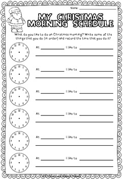 {FREE} Christmas Morning Schedule