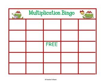 FREE Christmas Multiplication Bingo!