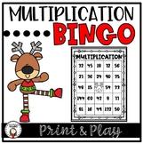 Christmas Multiplication Bingo