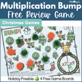 FREE Christmas Multiplication Bump Review Game