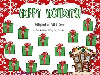 FREE Christmas Multiplication Roll & Cover