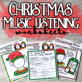 Christmas Music Listening Worksheets