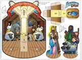 FREE Christmas Nativity diorama