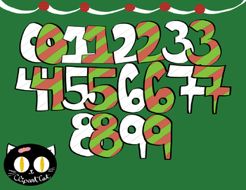 FREE Christmas Numbers Clipart! In Color and Black and White