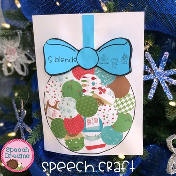FREE Christmas Ornament Speech Therapy Craft {articulation language craftivity}