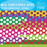 Christmas Polka Dot Pages {Big Christmas Dots}