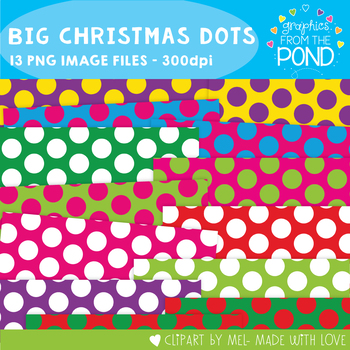 Christmas Polka Dot Pages {Big Christmas Dots}