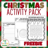 FREE Christmas Print and Go Activity Pack ELA Resources