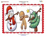 Christmas Puzzle- Adding, Subtracting and Multiplying Polynomials