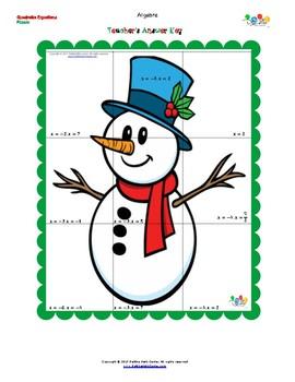 CHRISTMAS FREEBIE Puzzle Quadratic Equations