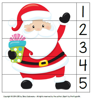 Christmas Puzzles (number recognition)