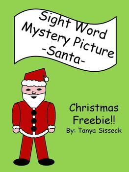 FREE Christmas Sight Word Mystery Picture - Santa