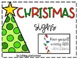 FREE Christmas Signs