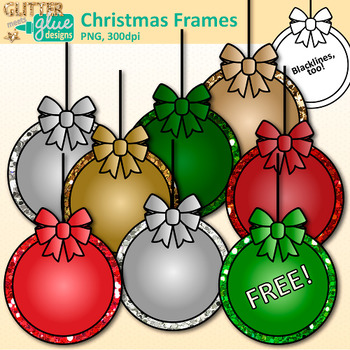 Christmas Frames Clip Art | Free Ornament Signs for Scrapbooking