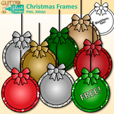 Christmas Frames Clip Art: Free Christmas Graphics {Glitte