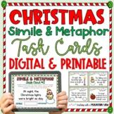 {FREE} Christmas Simile and Metaphor Task Cards {Holiday Figurative Language!}