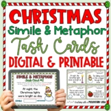 {FREE} Christmas Simile and Metaphor Task Cards {Holiday Figurative Language!}