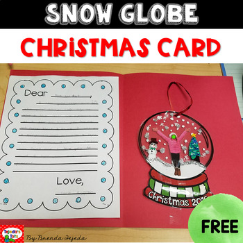 FREE Christmas Snow Globe ornament for parents