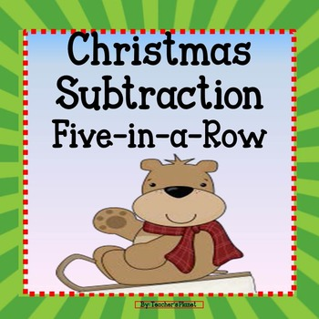 FREE Subtraction Game - Christmas 5-in-a-Row!