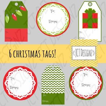 Christmas Tags! Christmas Tag Clip Art