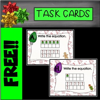 FREE Christmas Write the Equation Task Cards