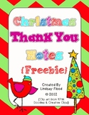 {FREE} Christmas Thank You Notes