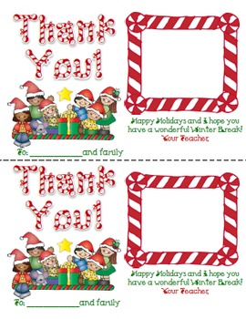 FREE Christmas Thank You Notes for Student Gifts {EDIT with Your Name!}