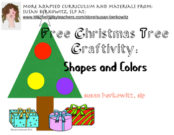 FREE Christmas Tree Craftivity: Shapes and Colors in Speech Language