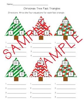 FREE Christmas Tree Fact Triangles