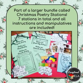 FREE: Christmas Tree Shape Poetry