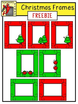 FREE Christmas Tree and Ornament Frames Clipart