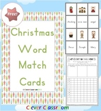 FREE Christmas Word Match Activity from Clever Classroom - 5 pages