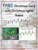 FREE Christmas card with Christmas lights theme