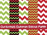 FREE Christmas chevron digital papers