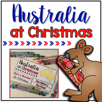 FREE Christmas in Australia Flipbook { 2 included } Holidays Around the World