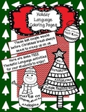 FREE Christmas/Winter Language Concept Coloring Pages