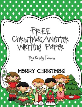 FREE Christmas/Winter Writing Paper