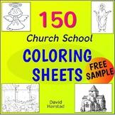 FREE - Church School - Sunday School - Catholic School - 2 Coloring Pages