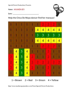 Cinco De Mayo FREE - Maracas - Color By Numbers!