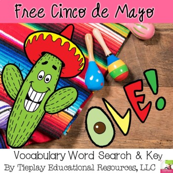 FREE Cinco De Mayo Vocabulary Word Search and Key