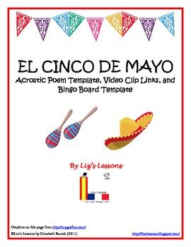 FREE Cinco de Mayo Acrostic and Bingo Templates, and Video