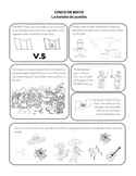 Cinco de Mayo Comic / Coloring Page