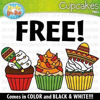 FREE Cinco de Mayo Cupcakes Clipart Set {Zip-A-Dee-Doo-Dah Designs}
