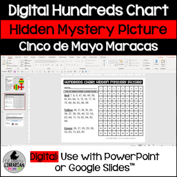 FREE Cinco de Mayo Maracas Hundreds Chart Hidden Picture Activity for Math