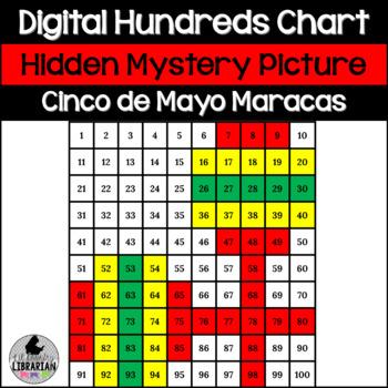 FREE Cinco de Mayo Maracas Hundreds Chart Hidden Picture A