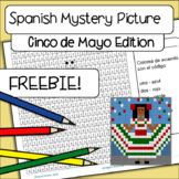Color By Number Cinco de Mayo Mystery Picture!  Grid / Spanish