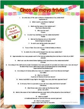 Cinco de Mayo Trivia Webquest Fun activity lesson plan